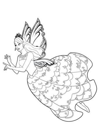 Совет от феи распечатать раскраску - Барби