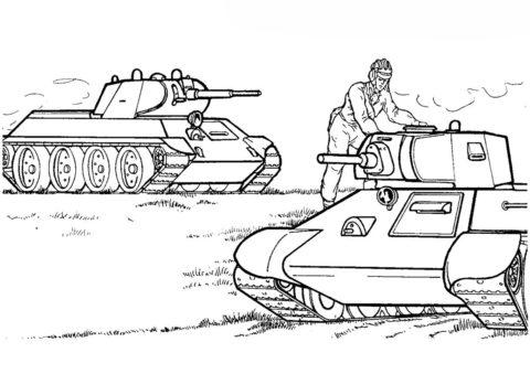 Советские танки МА-20 (Танки) распечатать раскраску