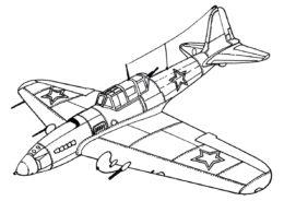 Самолеты распечатать раскраску - Советский штурмовик Ил-2