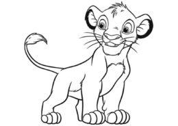 Бесплатная раскраска Спокойная прогулка распечатать на А4 - Король Лев