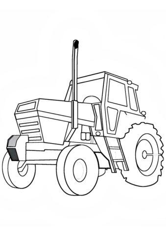 Спутник фермера (Трактора) бесплатная раскраска на печать