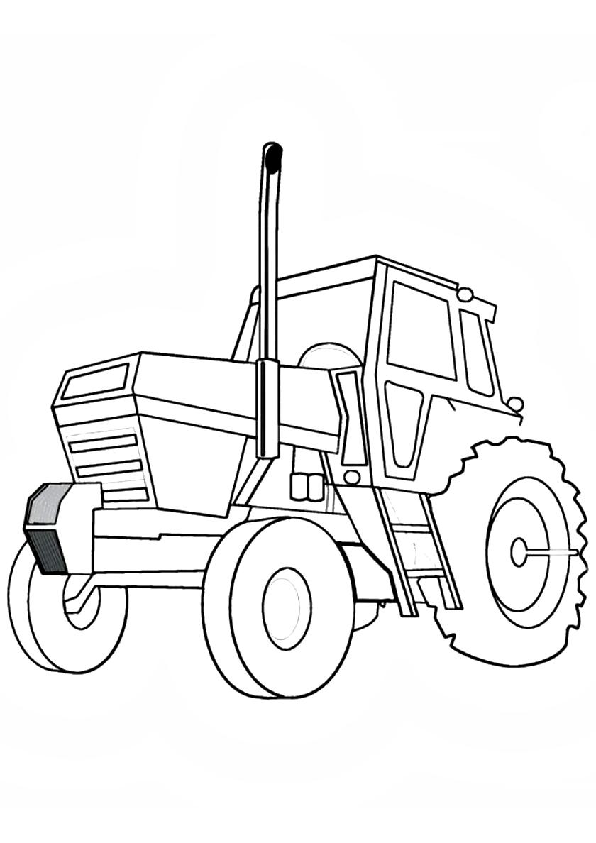 Раскраска Спутник фермера распечатать | Трактора