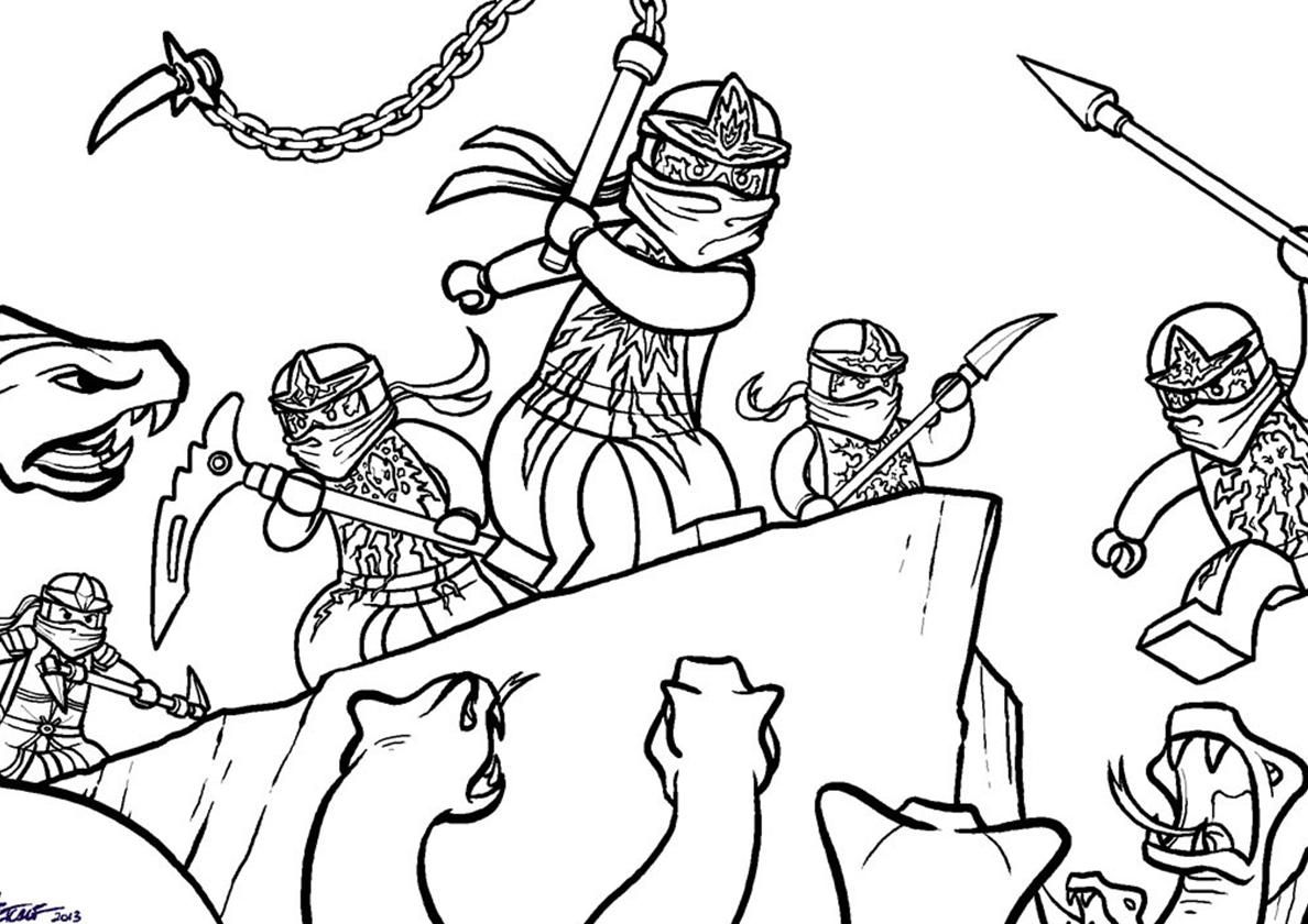 Картинки лего ниндзяго для раскраски