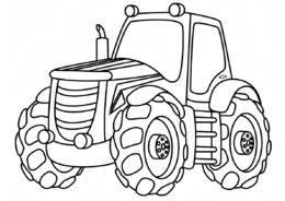 Трактора бесплатная разукрашка - Стальной богатырь