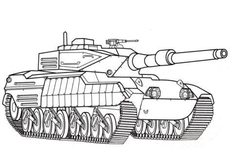Танки распечатать раскраску на А4 - Stingray 2 (США)