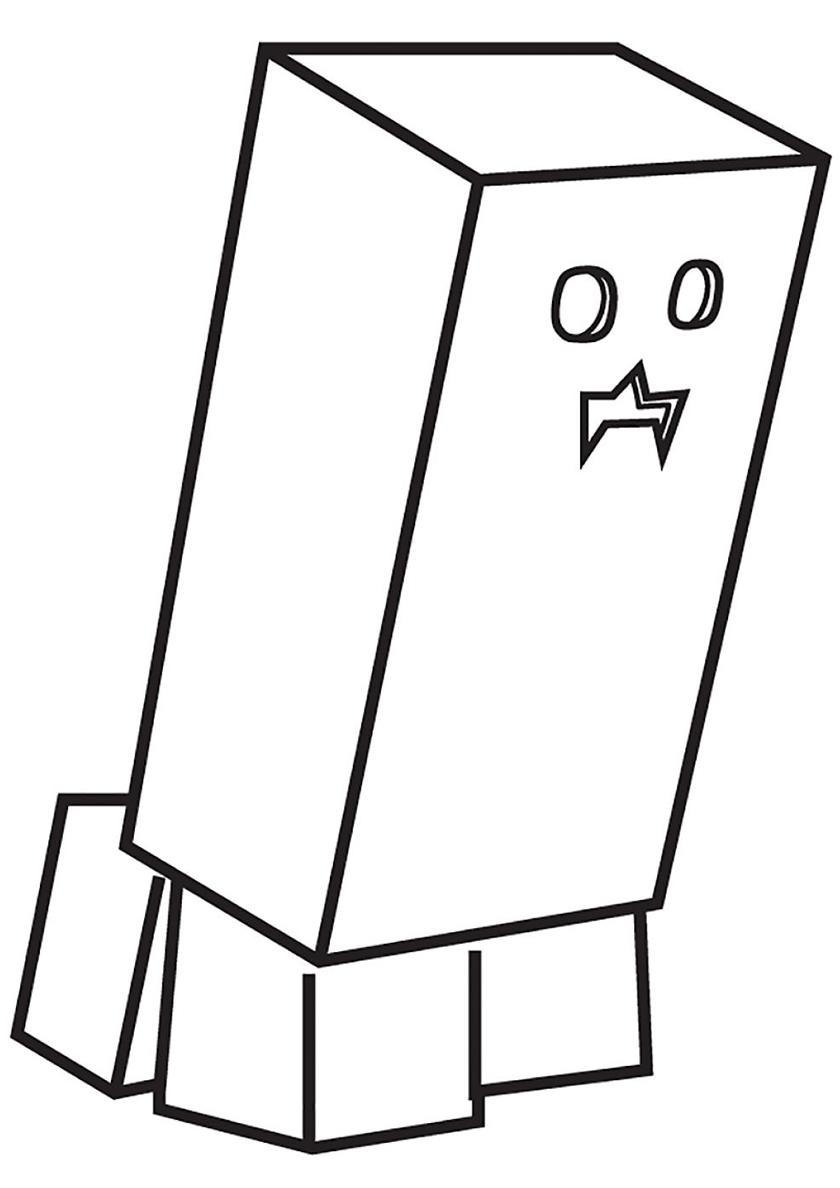 Раскраска Странное существо распечатать | Майнкрафт