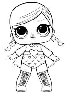 Куклы ЛОЛ (LOL) - раскраски для девочек распечатать бесплатно