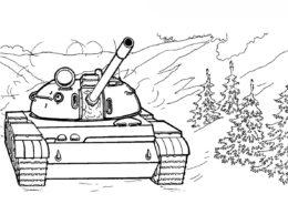 Т-55 (СССР) - Танки раскраска распечатать на А4