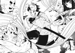 Бесплатная раскраска Танджиро и охотники против демона - Раскраски из аниме «Клинок, рассекающий демонов»