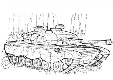 Танк EE-T1 Озорио (Бразилия) (Танки) бесплатная раскраска
