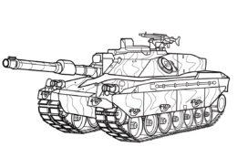 Бесплатная раскраска Танк FV4030-4 Challenger (Великобритания) распечатать на А4 - Танки