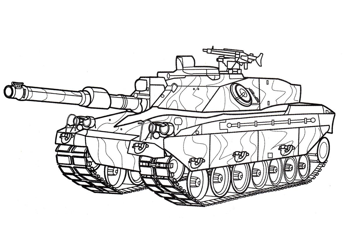 Распечатать раскраски танка армата для мальчиков