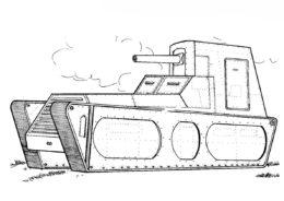 Разукрашка Танк LK-II (Германия) распечатать и скачать - Танки