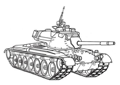 Раскраска Танк М60 (США) - Танки