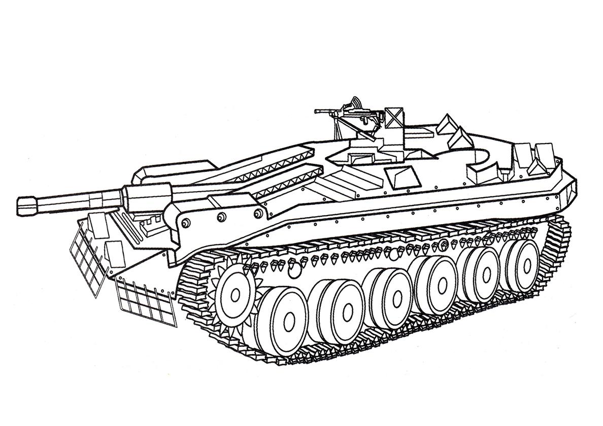 Немецкий танк картинки раскраски