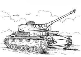Раскраска Танк T IV H (Германия) - Танки