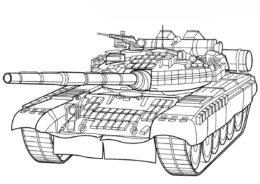Разукрашка Танк T80 BV (Россия) распечатать на А4 и скачать - Танки