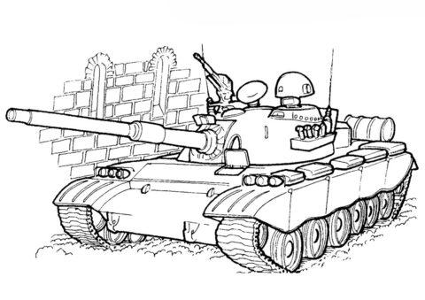 Танк TIP80 (Китай) раскраска распечатать на А4 - Танки