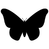 Трафареты бабочек для вырезания