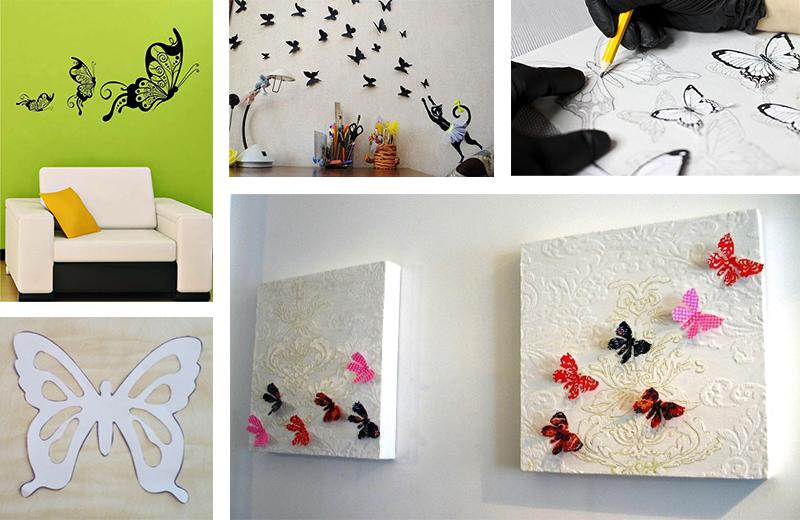 Использование трафаретов бабочек в декоре и творчестве