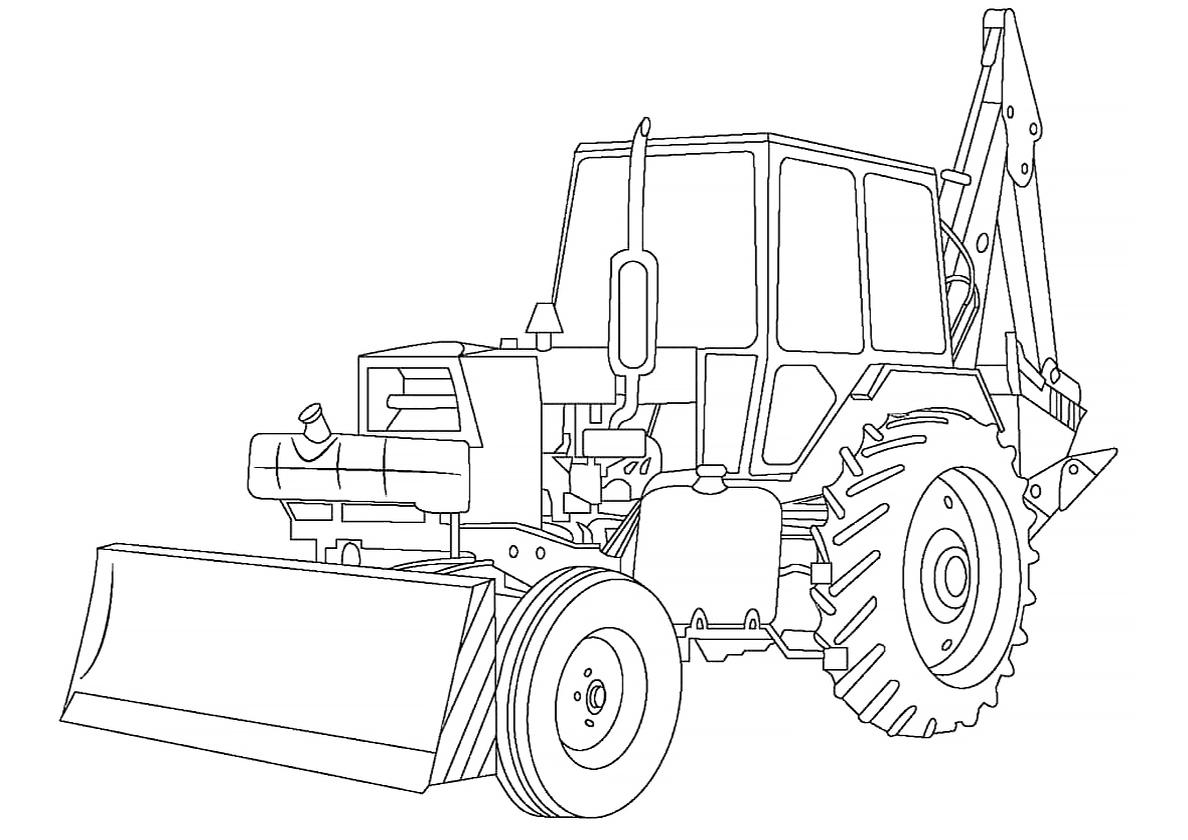 Картинки для раскрашивания тракторы