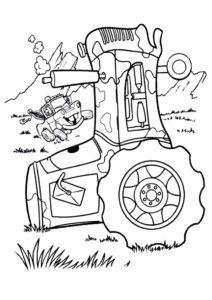 Трактора в беде (Трактора) распечатать разукрашку
