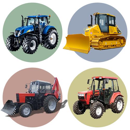 Примеры раскрашивания тракторов