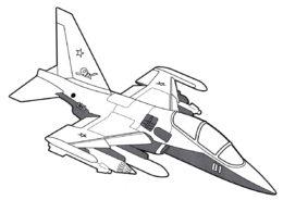 Учебно-боевой самолет Як-130 раскраска распечатать на А4 - Самолеты