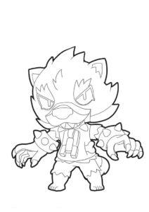 Угрожающий зверь (Браво Старс) раскраска для печати и загрузки