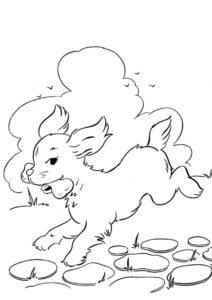 Раскраска Украденная кость - Собаки и щенки
