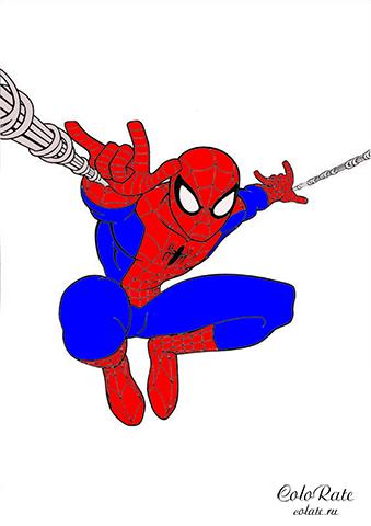 Пример раскрашивания - Человек паук