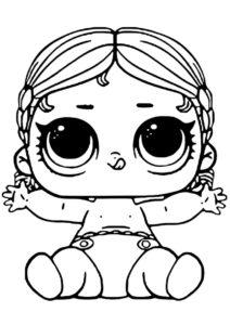 Вакай-Бабай младшая сестра (L.O.L Маленькие сестренки) бесплатная раскраска