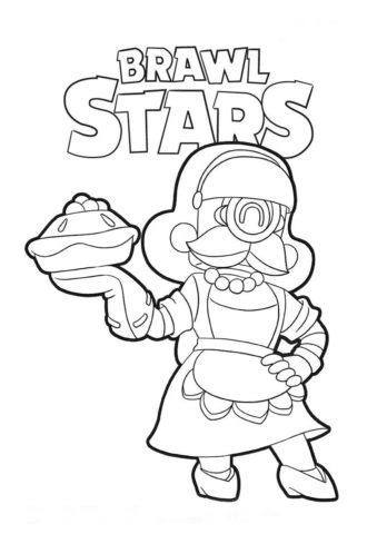 Ваш торт - Браво Старс бесплатная раскраска