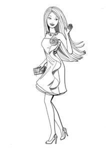 Раскраска Вечернее прощание - Барби