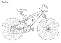 Раскраска Велосипед с амортизацией распечатать на А4 и скачать - Велосипеды
