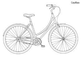 Бесплатная раскраска Велосипед с ручными тормозами распечатать на А4 и скачать - Велосипеды