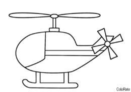 Бесплатная раскраска Вертолетик для детей распечатать и скачать - Вертолеты