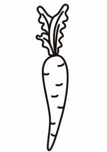 Вита Лонга (Морковь) разукрашка для печати на А4