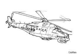 Военный вертолет раскраска распечатать и скачать - Вертолеты