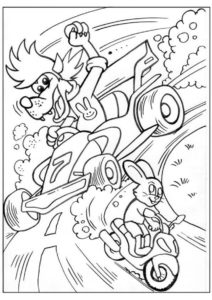 Волк на спорткаре догоняет мотоцикл зайца распечатать разукрашку бесплатно - Ну, погоди!