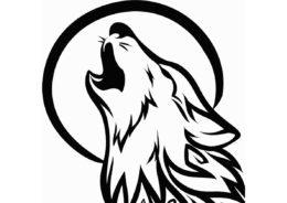 Волк воет на луну (Волки) распечатать разукрашку