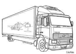 Грузовики бесплатная разукрашка - Volvo FH-16 Reefer Truck