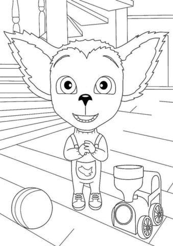Восхищенный Малыш (Барбоскины) распечатать раскраску