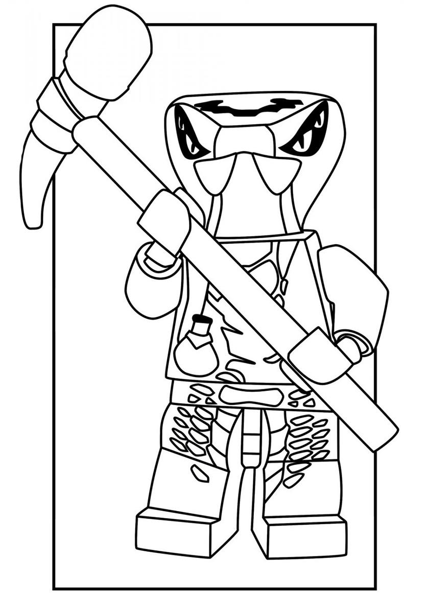 Раскраска Войн Веномари Спитта распечатать | LEGO Ниндзяго