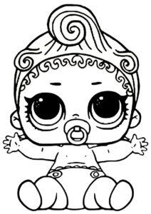 Возможности ребенка (L.O.L Маленькие сестренки) распечатать бесплатную раскраску