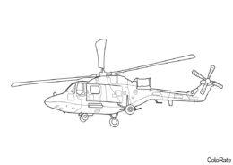 Westland Lynx раскраска распечатать на А4 - Вертолеты