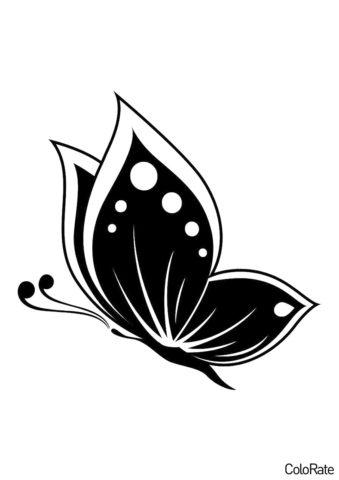 Яркая бабочка распечатать трафарет - Трафареты бабочек