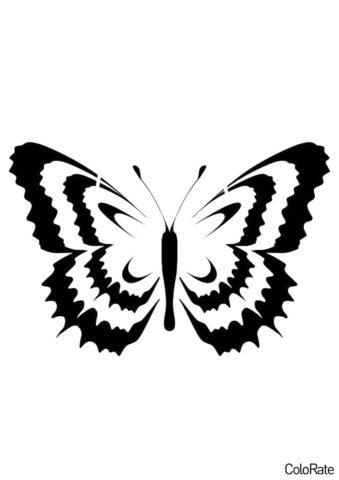 Трафареты бабочек бесплатный трафарет для вырезания - Яркий мотылек