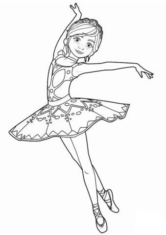 Раскраска Юная артистка балета - Балерина