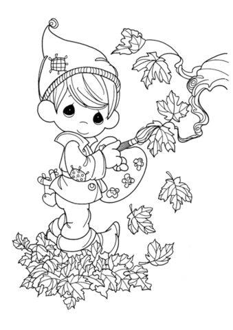 Осень распечатать раскраску на А4 - Юный художник